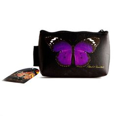purple cosmetic bags | Butterfly Cosmetic Bag - Purple Purple Accessories, Purple Bags, Cosmetic Bag, Butterfly, Cosmetics, Fashion, Moda, Fashion Styles, Fashion Illustrations