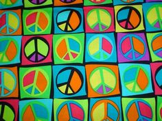 Zoe's Bag Boutique: Another peace sign fabric available for your messenger bags!