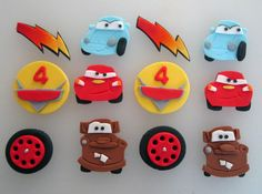Cars themed Cupcake/Cookie Toppers 1 Dozen by sweetenyourday, $18.00