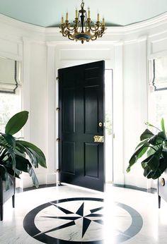 always elegant glossy black doors