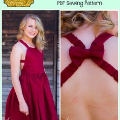 This stylish pattern is a sweetheart neckline that hits at the natural waistline and very full twirly skirt. The back is a low back hitting at the waist with two strap options (easy on/off, and criss-cross), Both mega bow and small bow are included in pattern. Top length is meant to hit at hip, dress right above the knee, and maxi hovering just above floor. Sizes included: 3m,6m,9m,12m,18m,2,3,4,5,6,7,8,10,12,14. All chest measurements are for a flat/non-developed girl figure. You w...