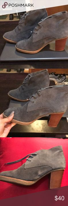 💗👢Gray Boots 👢 💗 These grey boots are in excellent condition only worn once no marks. Heel is intacted✨✨ Gap New York Shoes Ankle Boots & Booties
