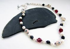 Red Eye Pearl Necklace – Loose Ends