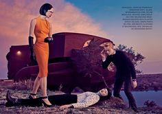 Raquel Zimmermann, Toni Garrn  Niklas Garrn by Steven Klein for Vogue US September 2013 4