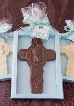 Cruz de Chocolate para Bautizos y Primera Comunión