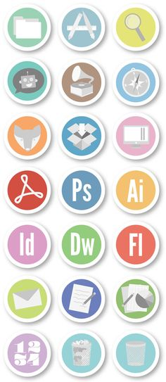 Scout Badge Icon Set by Jessica Tennant, via Behance