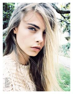 suicideblonde: Cara Delevinge photographed by Quentin De Briey for Vogue Spain, January 2013