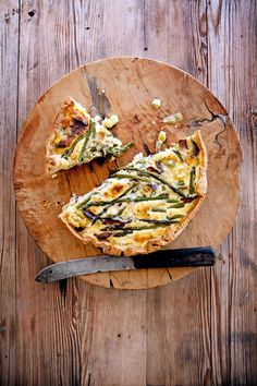 Justin Bonello's biltong, leek and asparagus quiche. Book Club Food, Asparagus Quiche, Biltong, Savory Tart, South African Recipes, Grubs, Quiches, Fish And Seafood, Wine Recipes