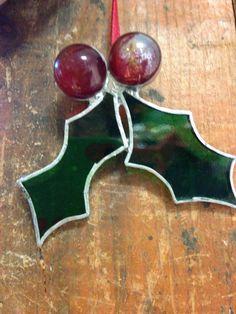 Acebo de vidrieras decoración de la Navidad por WantsumGlass