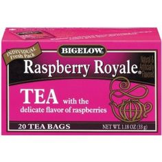 Bigelow Raspberry Royale Tea, 28 Count Tea Bags (Pack of 6) by Bigelow Tea, http://www.amazon.com/dp/B0053B7GEE/ref=cm_sw_r_pi_dp_8G4Arb0PJGEDN