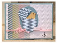 Little chick card using the Stampin' Up! Oh Hello! set.  From Stamping With Jill.  Card idea CASEd from Connie Babbert.
