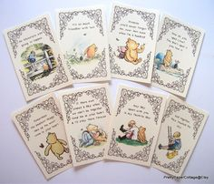 Winnie the Pooh Quotes, Prints for Framing, Personalized, Baby Shower, Birthday Party, Nursery, Decorations, Size: 4x6 Inches
