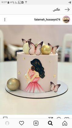 Happy Birthday Cake Girl, Birthday Cake For Women Simple, Birthday Cakes For Teens, 18th Birthday Cake, Baby Birthday Cakes, Beautiful Birthday Cakes, Beautiful Cakes, Cake Decorating Designs, Cake Decorating Videos