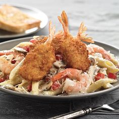 Double Shrimp Pasta gives you double the reason to eat at Marie's tonight! ☺