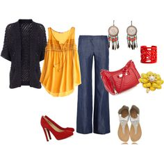 Yellow + Red + Navy