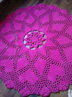 Crochet Quilt, Crochet Tablecloth, Crochet Home, Crochet Crafts, Crochet Projects, Crochet Doily Diagram, Crochet Motif, Crochet Doilies, Crochet Stitches