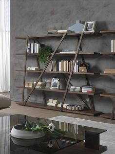 Open freestanding bookcase TRES by Pacini & Cappellini