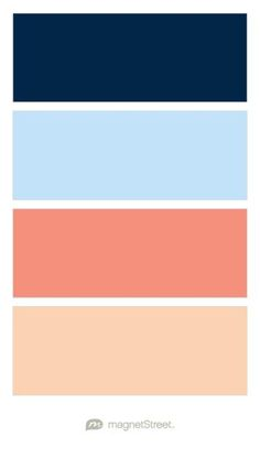 Navy, Sky, Coral, and Peach Wedding Color Palette | Wedding Color Trends: Classic, Preppy Chic | MagnetStreet Weddings