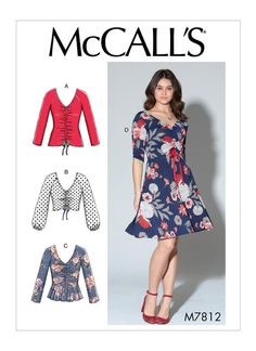 M7812 | Misses' Tops and Dress Sewing Pattern | McCall's Patterns