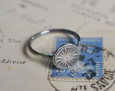 compass rose wax seal ring follow your star by suegrayjewelry, $35.00