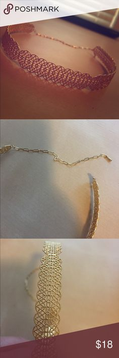 Nasty gal gold metal Grecian chain choker Great condition!  Nasty gal gold metal Grecian chain choker Nasty Gal Jewelry Necklaces