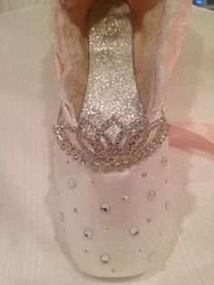 Cinderella Inspired Decorative Pointe Shoe by ColumbusCityShoeShop