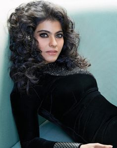 Black velvet. #Kajol #Bollywood