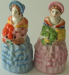 VINTAGE Crinoline Lady SALT & PEPPER SHAKERS Southern Belle