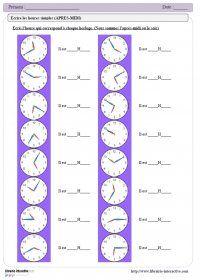 Un dossier complet ( de 21 pages) qui propose des exercices variés et évolutifs pour apprendre à lire l'heure, depuis le CP jusqu'au CM2.  #heure