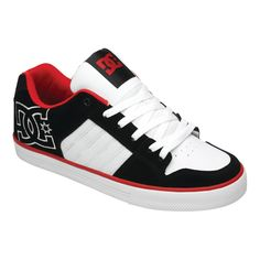 DC Shoes Chase men white athletic red black
