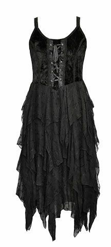 Jordash Tie Dye/Plain Gothic Velvet/Georgette Layered Zig-zag Lace-up Dress JD/DR/1981 Womens Festival Halloween Samhain Witch Vampire Solstice Goth Fairy Jordash, http://www.amazon.co.uk/dp/B00FSDWVEC/ref=cm_sw_r_pi_dp_QKGmtb15W1GN3