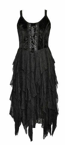 Jordash Tie Dye/Plain Gothic Velvet/Georgette Layered Zig-zag Lace-up Dress JD/DR/1981 Womens Festival Halloween Samhain Witch Vampire Solstice Goth Fairy Jordash, http://www.amazon.co.uk/dp/B00FSDWVEC/ref=cm_sw_r_pi_dp_QKGmtb15W1GN3