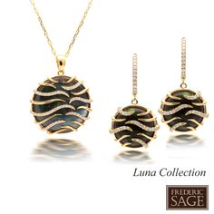 Black Mother of Pearl #fredericsage Luna Collection