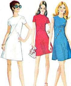 1970s Dress Pattern McCalls 2390 Mod A Line Day or by paneenjerez, $14.00