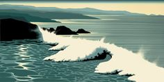 The Wave by Eyvind Earle