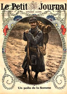 WWI, 5 May 1918, Le Petit Journal. French soldier at the Somme.