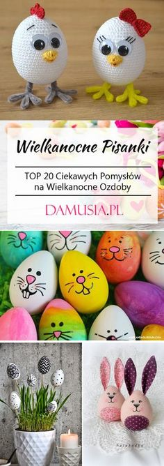 Top 27 Cute and Money Saving DIY Crafts to Welcome The Easter - HomeDesignInspired Egg Crafts, Bunny Crafts, Chicken Pattern, Crochet Chicken, Cute Easter Bunny, Diy Tops, Ornament Tutorial, Easter Crochet, Handmade Felt