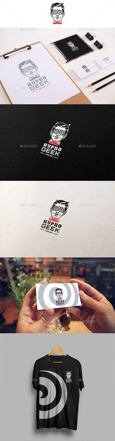 Hypno Geek Logo Template Vector EPS, AI, CDR. Download here: http://graphicriver.net/item/hypno-geek-logo/12599196?ref=ksioks