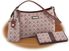Jacquard pocketbook with cell case and wallet