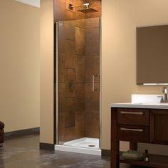 Dreamline Elegance 32.25-In To 34.25-In Frameless Pivot Shower Door Sh