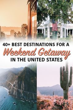 of the best places in the United States for a weekend getaways - city breaks, small towns, mountain escapes, dessert destinations, and sand and sun. united states of the Best U. Destinations for a Weekend Getaway - Nina Near and Far Us Travel Destinations, Amazing Destinations, Places To Travel, Places To See, Wedding Destination, Destination Voyage, Australia, United States Travel, City Break