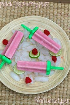 Best flavored popsicles - Peach Raspberry www.fooddonelight.com #popsiclerecipe #fruitrecipe