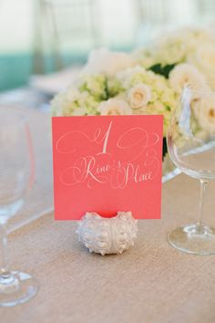 Pretty flowers & table numbers