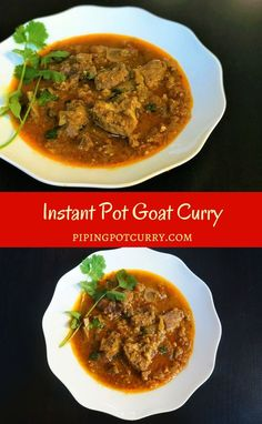 Goat Curry or Mutton Masala in the Instant Pot or Pressure Cooker. Tender meat cooked in an onion tomato gravy with aromatic whole spices | #mutton #curry #indian #recipe #punjabi #easy #instantpot #pressurecooker #glutenfree #lowcarb #paleo | pipingpotcurry.com