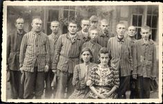 Dachau death camp, Germany, Jewish inmates, after the liberation. The horrors they have seen, witnessed to, smelled and endured will change their lives forever