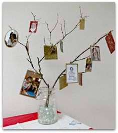 """Could even do a larger branch and encourage others to bring photos to """"pin"""" to our family tree"""