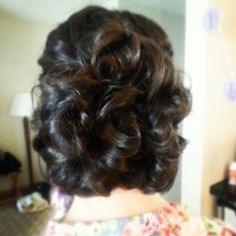 #short #hair #updo for a #bridesmaid done by @Kristin Foreman #wedding