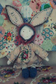 Folk Art Rabbit by hettiebrown on Etsy