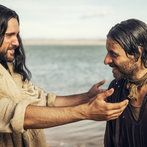 Juan Pablo di Pace as Jesus and Adam Levy as Peter in A.D.: The Bible Continues
