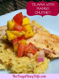 Tilapia With Mango Chutney. This is a great easy weeknight meal that the whole family will love!